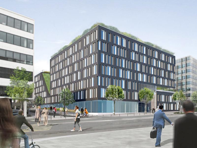 Immeuble de bureaux restaurant et commerces massy 91 for Immeuble bureaux structure bois